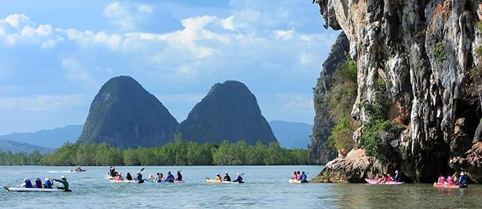 Phang Nga Bucht und Hong Insel mit Kanu