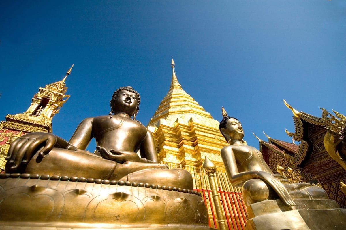 Thailand Chiang Mai Tempel Wat Phrathat Doi Suthep